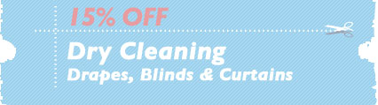 Cleaning Coupons | 15% off drapes, blinds and curtains | Carpet Cleaning Edison